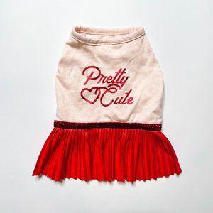 "Top Paw ""Pretty Cute"" Valentines Dress"